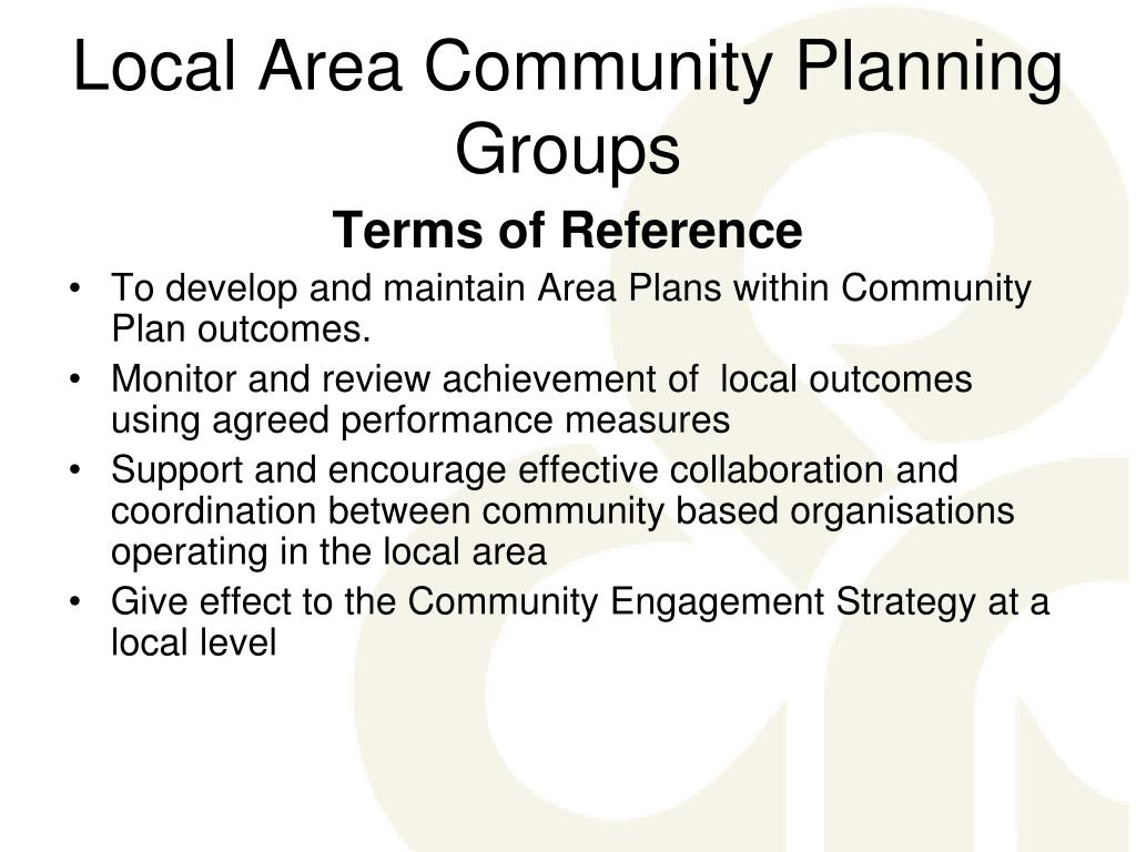 Local Area Community Planning Groups