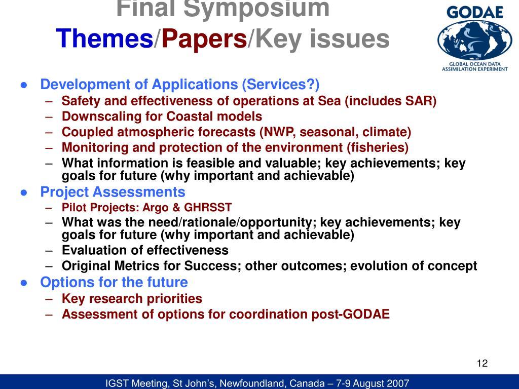 Final Symposium