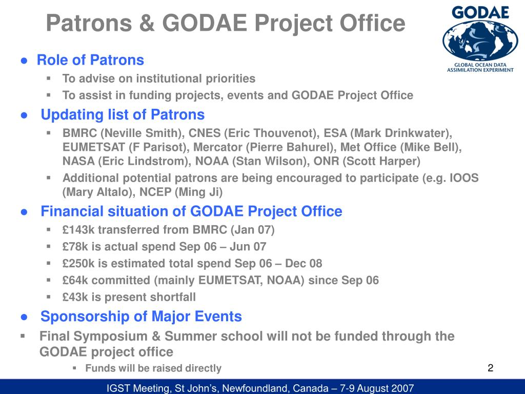 Patrons & GODAE Project Office