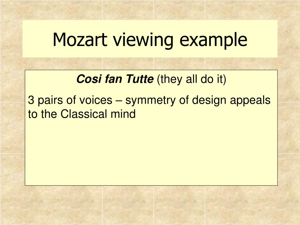 Mozart viewing example