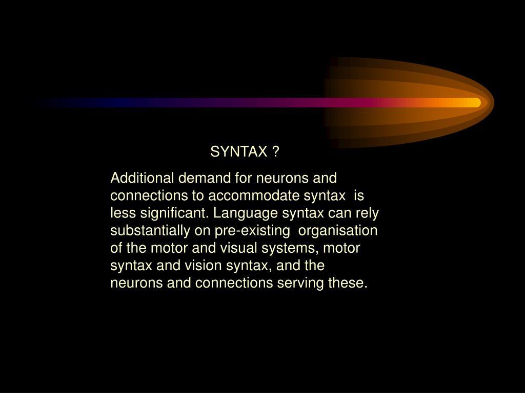 SYNTAX ?