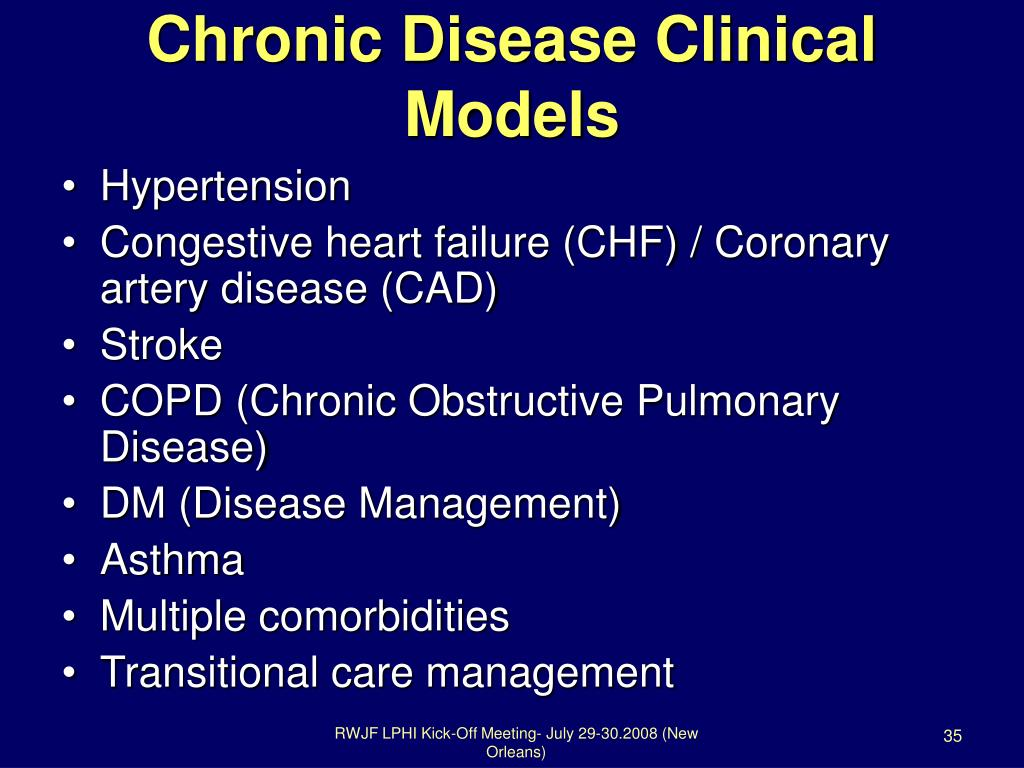 Chronic Disease Clinical Models
