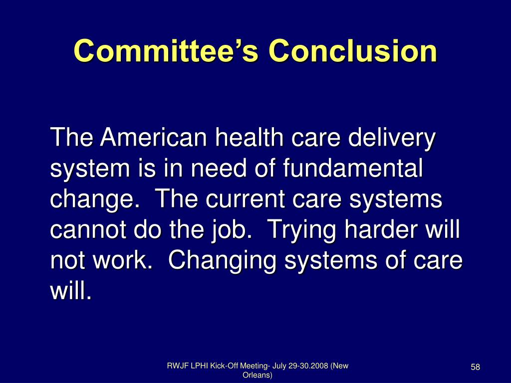 Committee's Conclusion