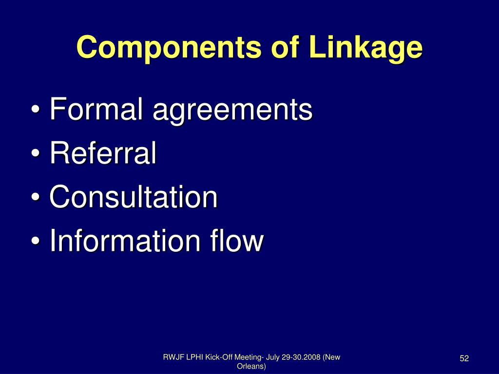 Components of Linkage