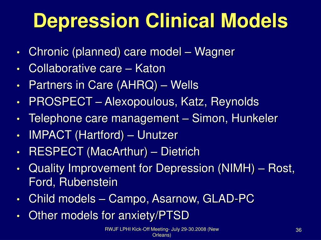 Depression Clinical Models