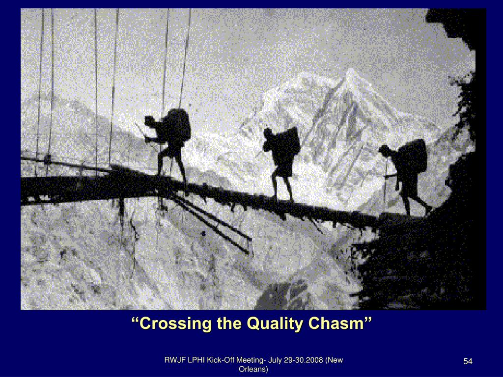 """Crossing the Quality Chasm"""