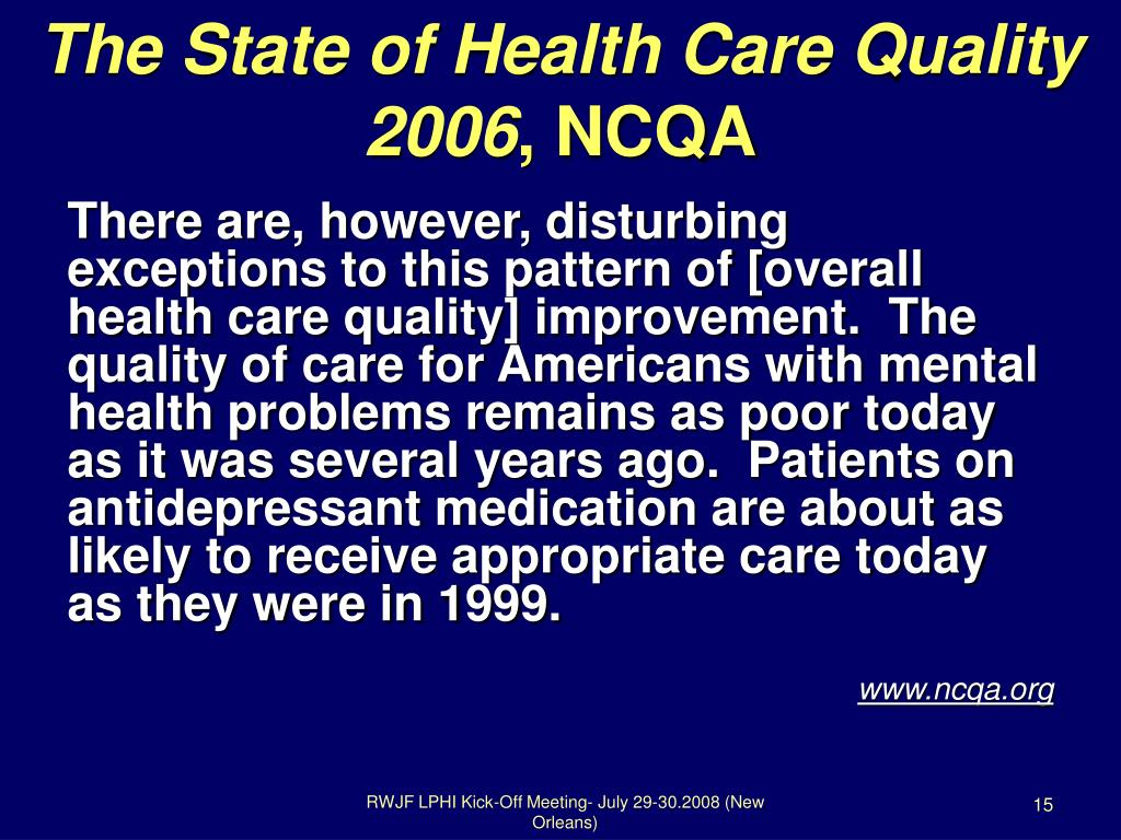 The State of Health Care Quality 2006