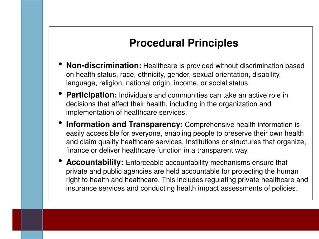 Procedural Principles