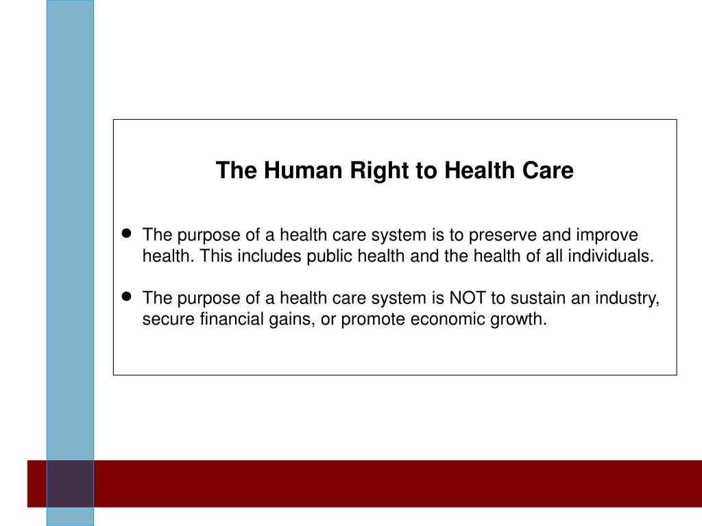 The Human Right to Health Care