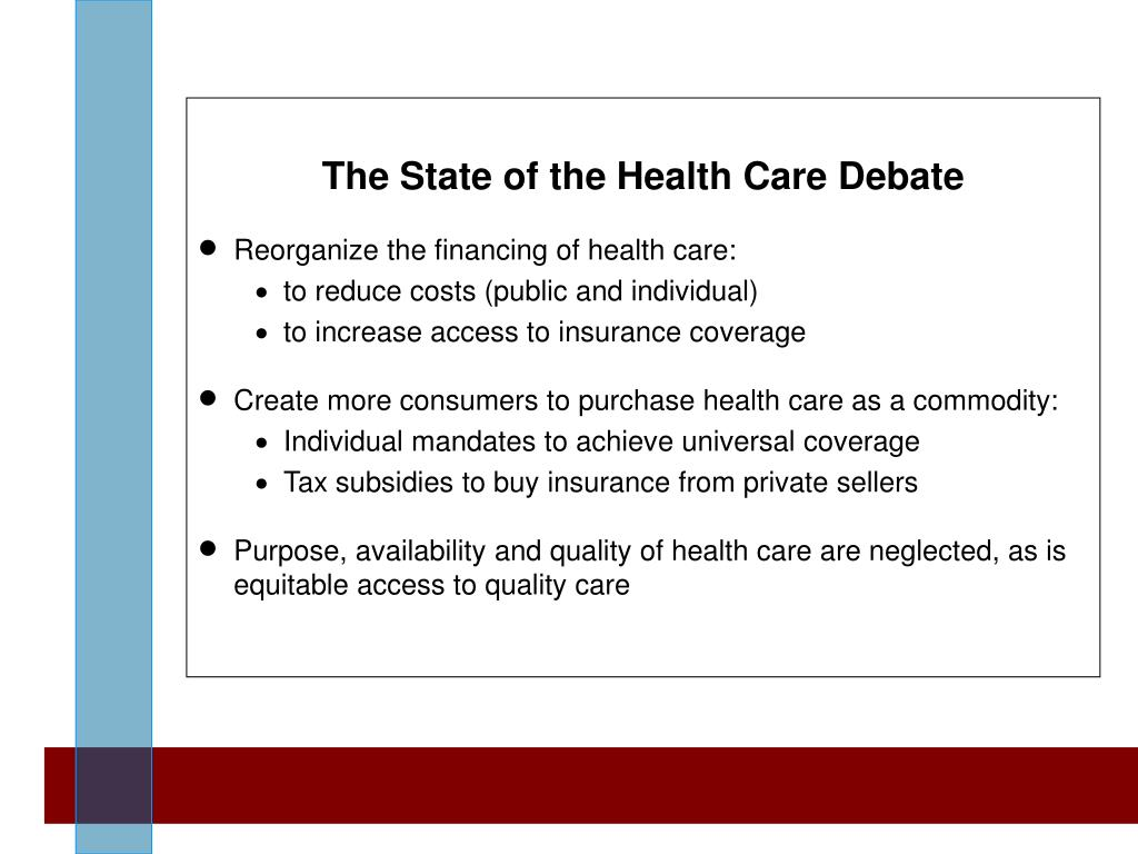 The State of the Health Care Debate
