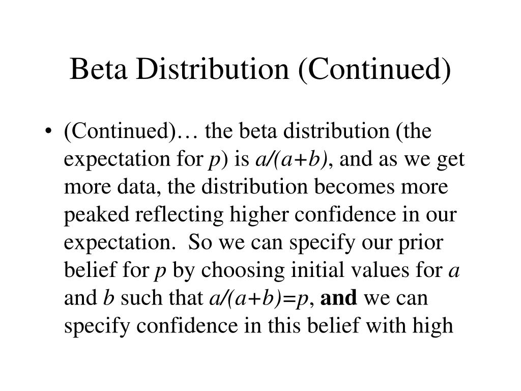 Beta Distribution (Continued)
