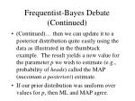 frequentist bayes debate continued
