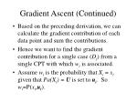 gradient ascent continued53