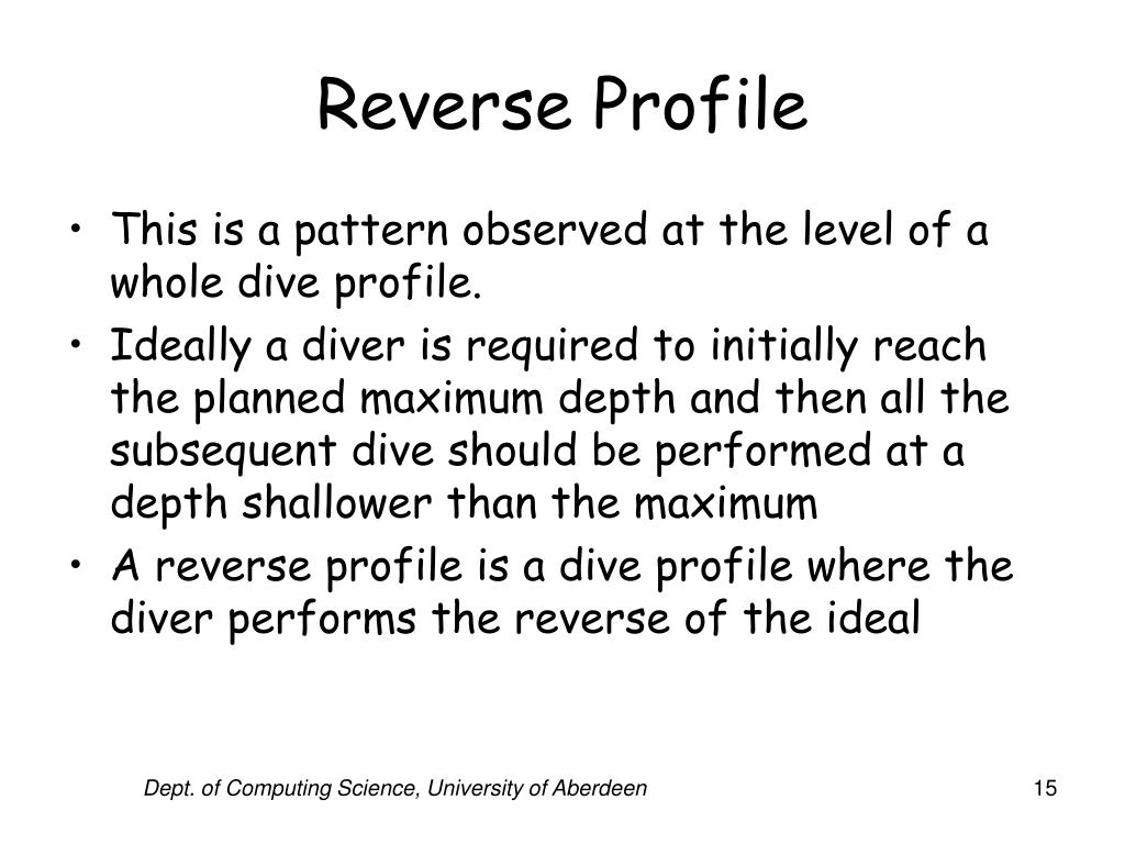 Reverse Profile