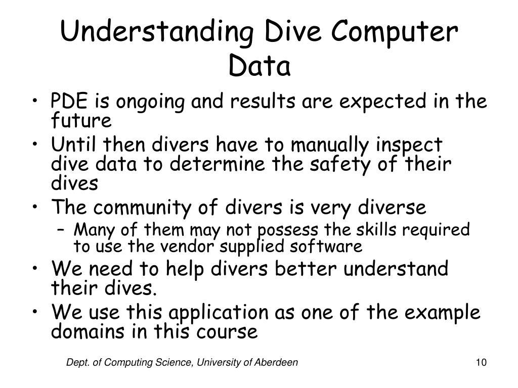 Understanding Dive Computer Data