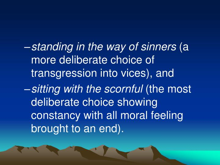 standing in the way of sinners