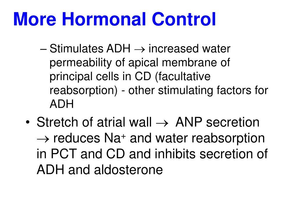 More Hormonal Control
