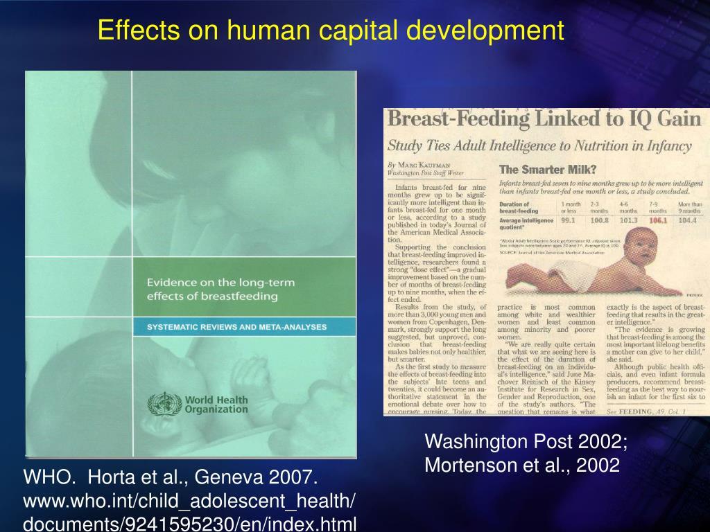Effects on human capital development