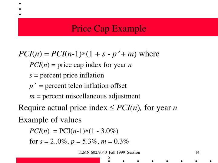 Price Cap Example