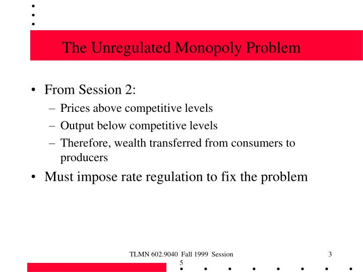 The Unregulated Monopoly Problem