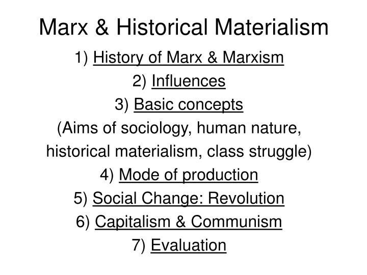 Marx historical materialism