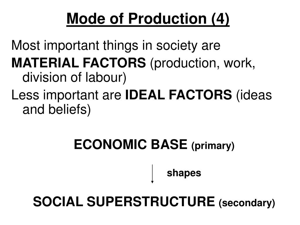 Mode of Production (4)