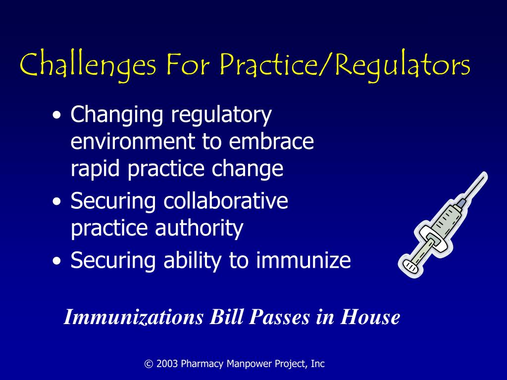 Challenges For Practice/Regulators