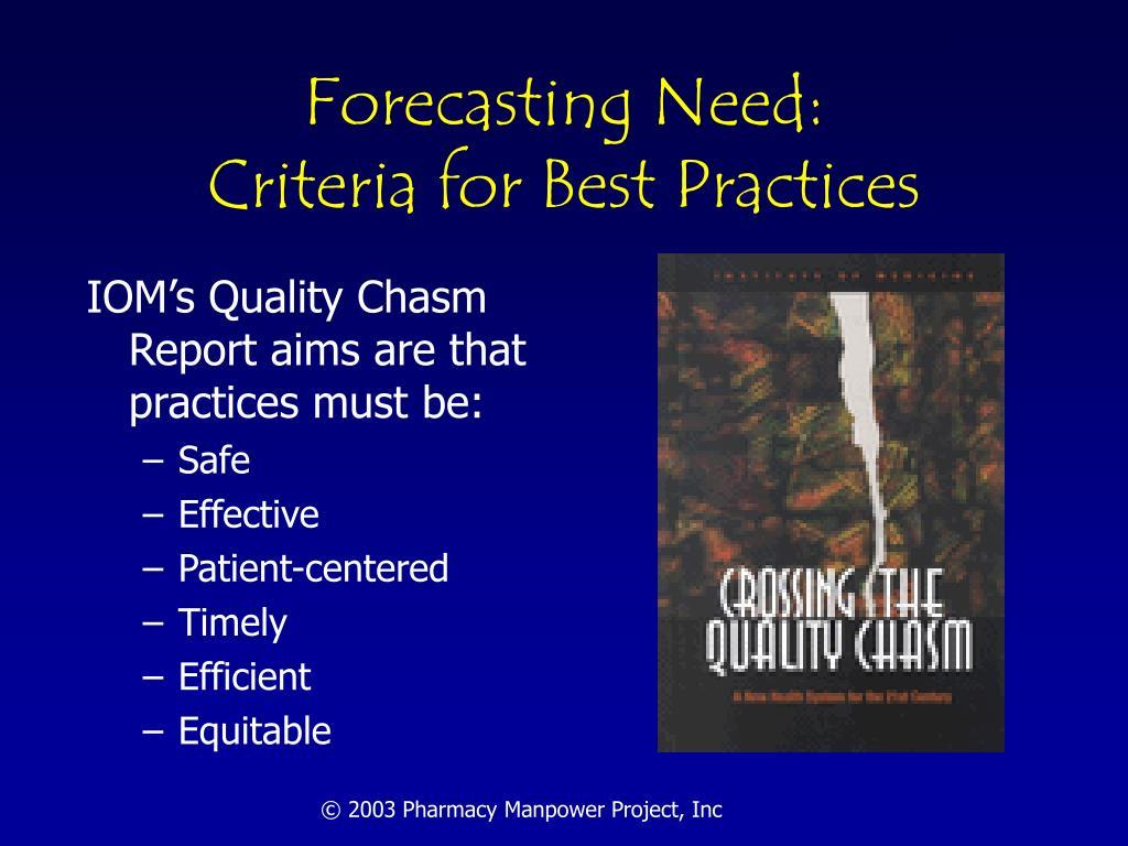 Forecasting Need: