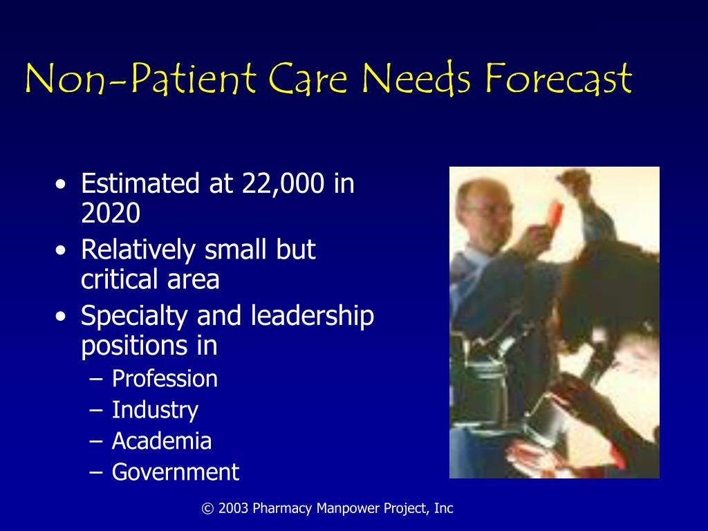 Non-Patient Care Needs Forecast