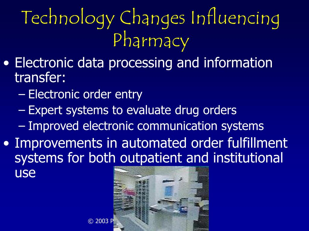 Technology Changes Influencing Pharmacy