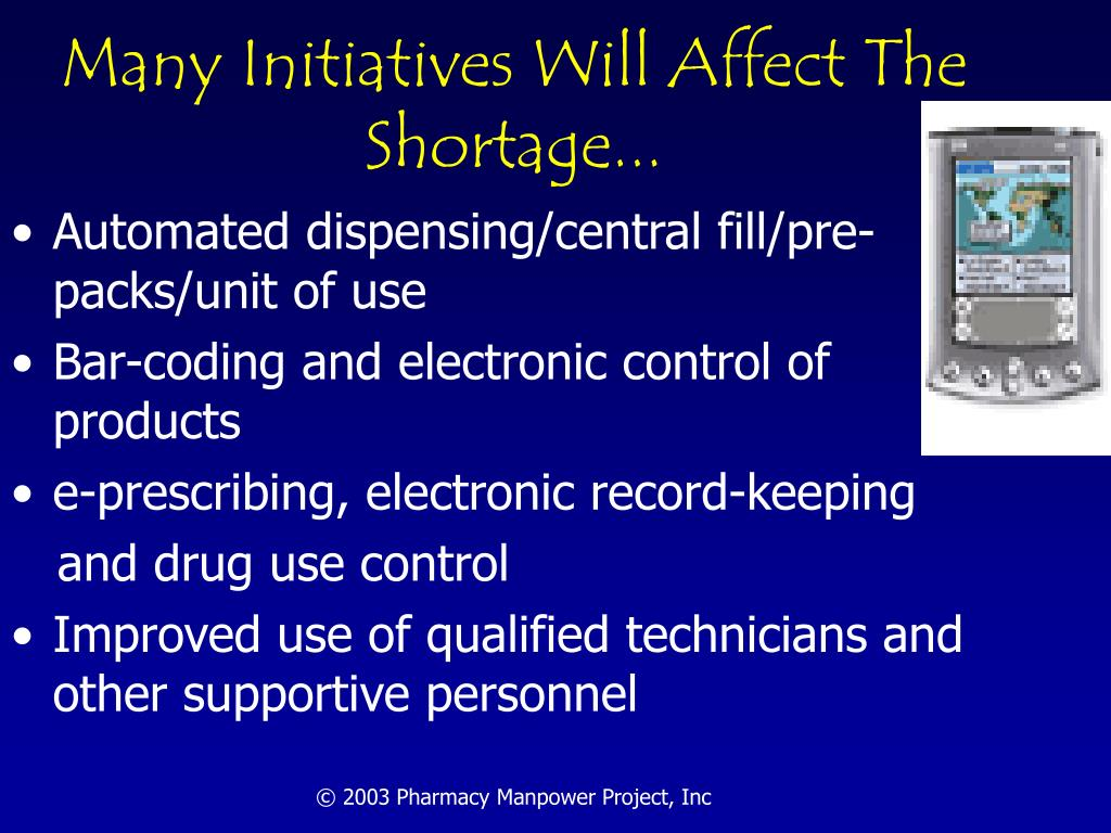 Many Initiatives Will Affect The Shortage...