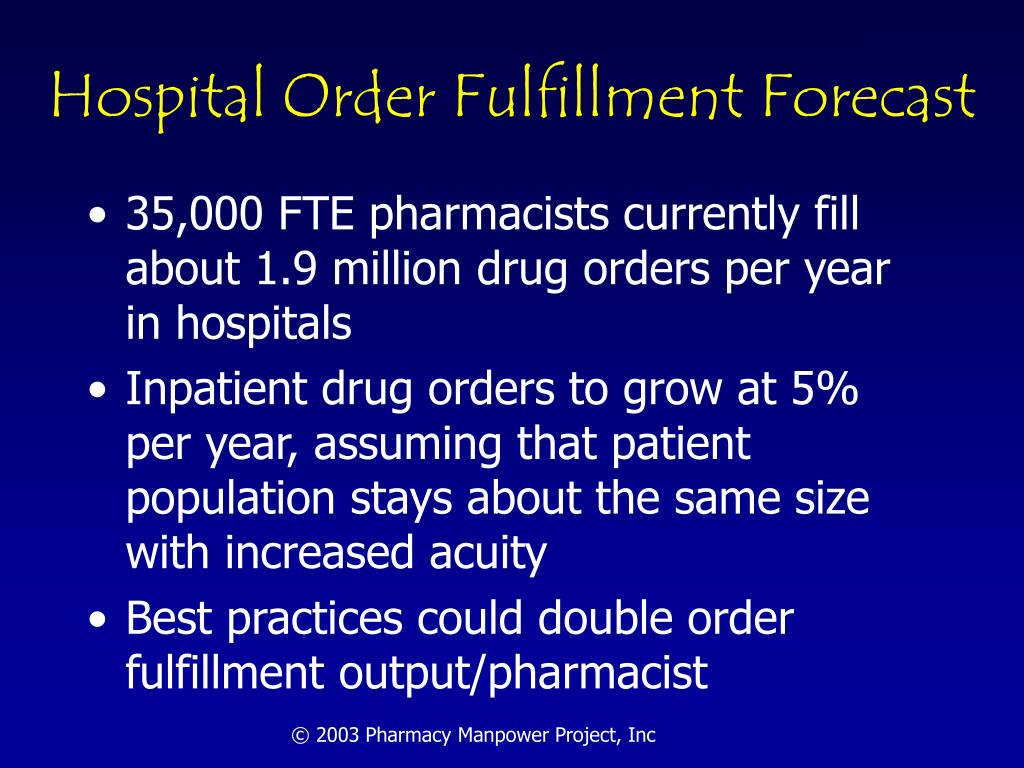 Hospital Order Fulfillment Forecast