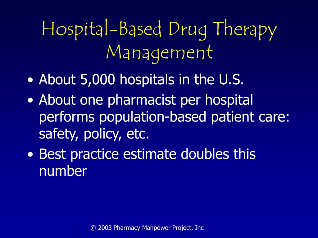 Hospital-Based Drug Therapy Management