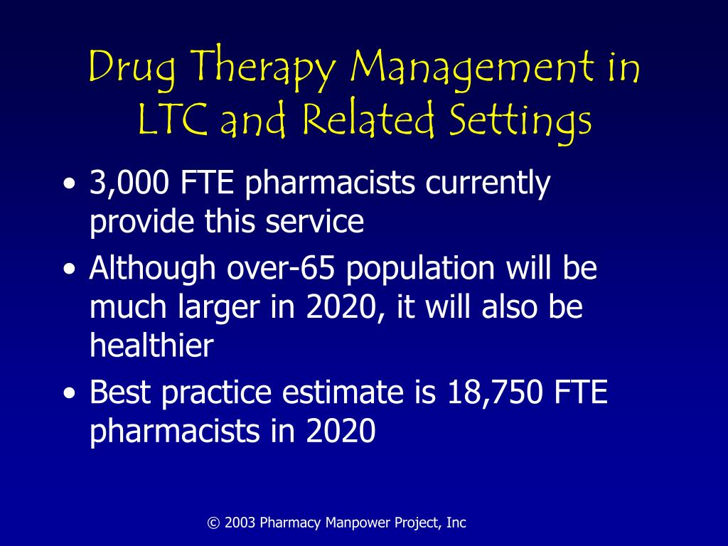 Drug Therapy Management in LTC and Related Settings
