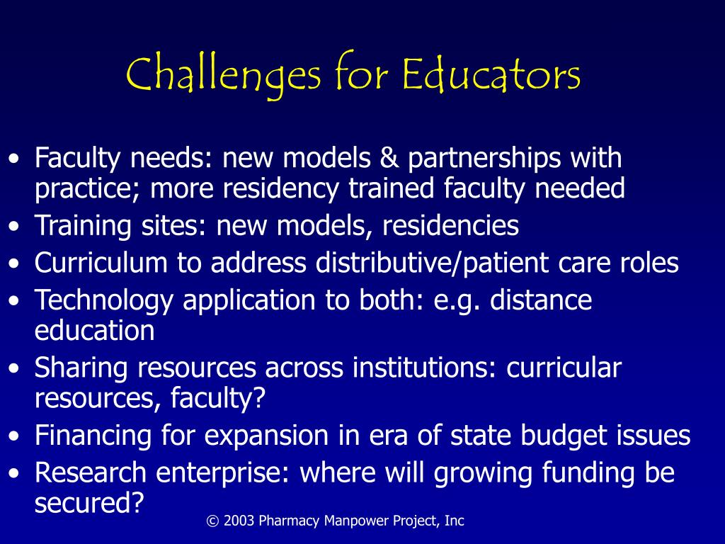 Challenges for Educators