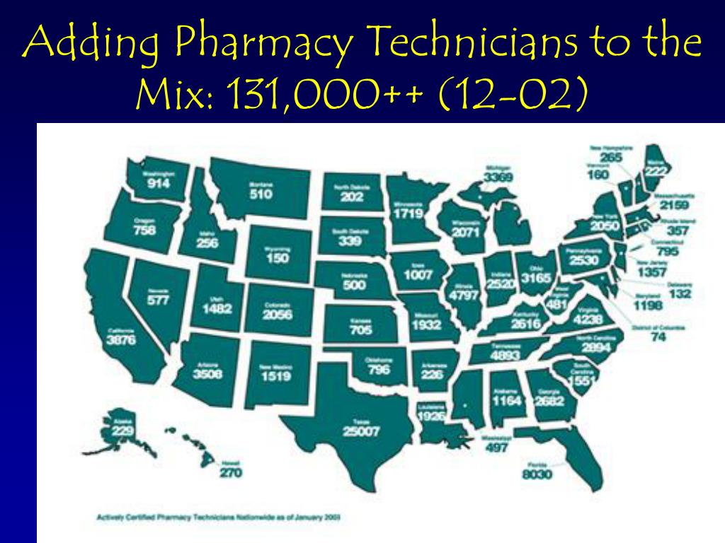 Adding Pharmacy Technicians to the Mix: 131,000++ (12-02)