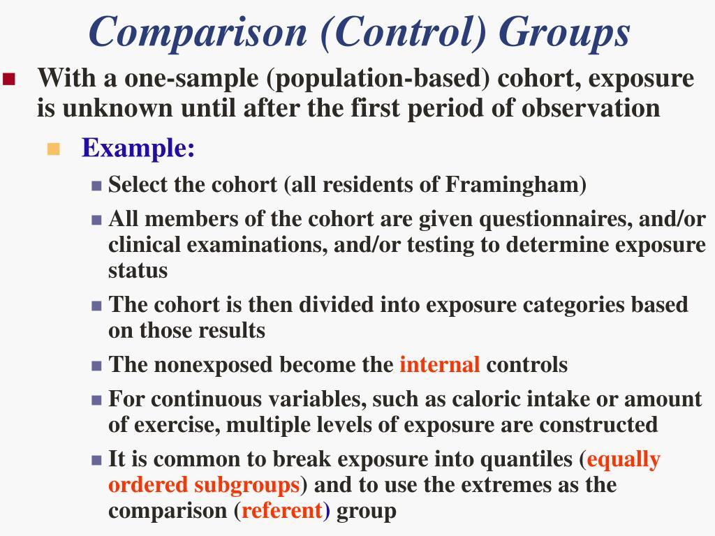 Exposure based cohort study ppt