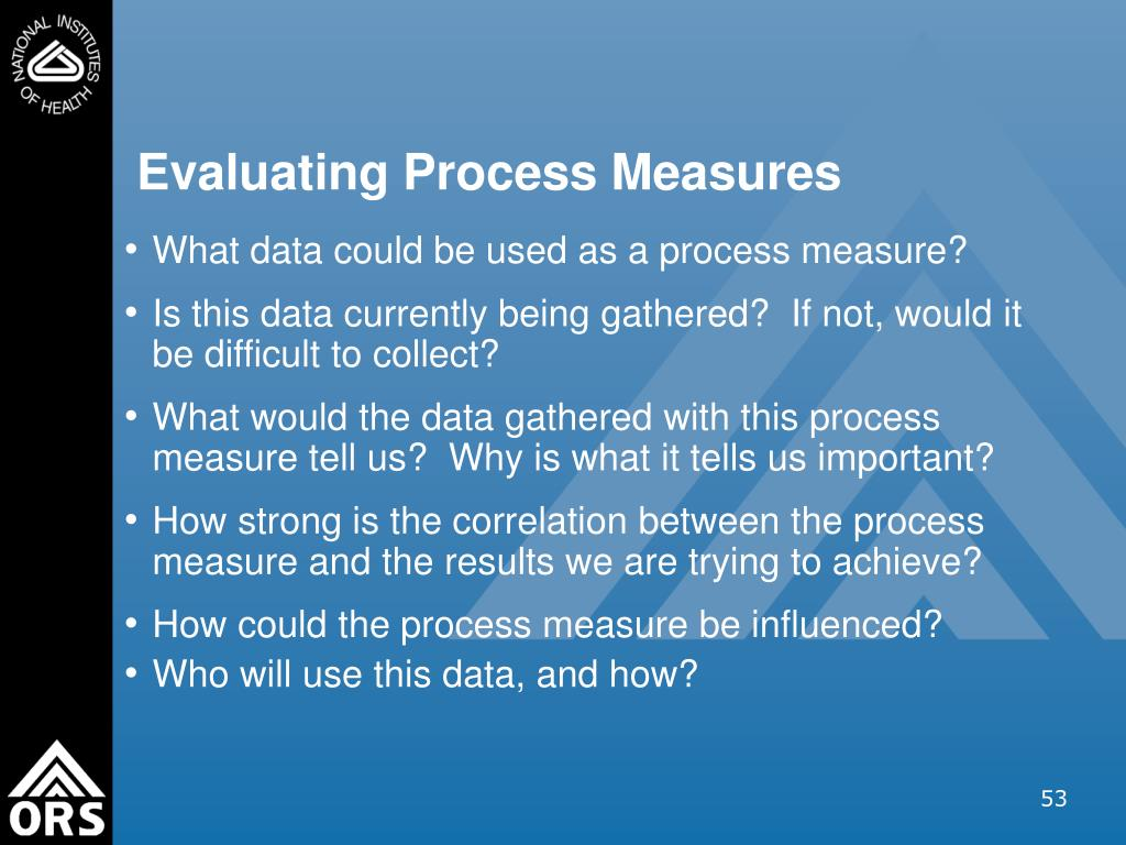 Evaluating Process Measures
