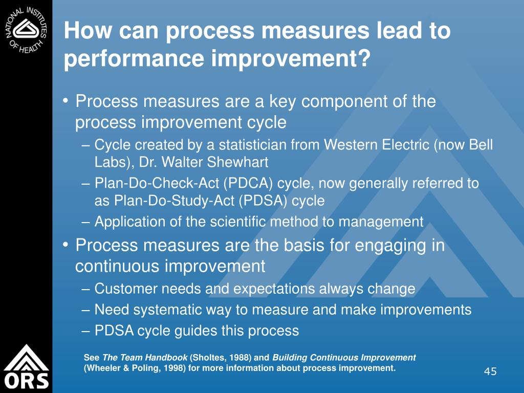 How can process measures lead to performance improvement?