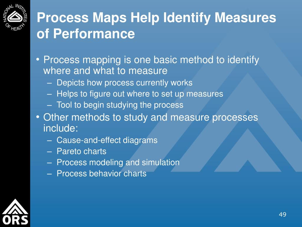 Process Maps Help Identify Measures of Performance