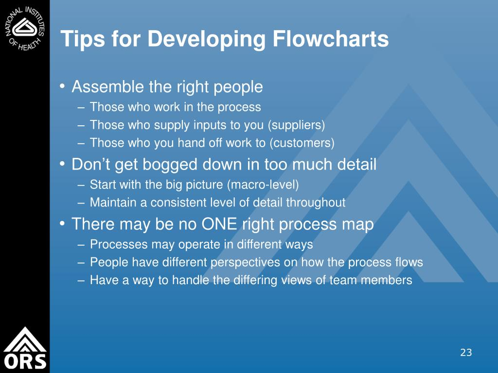 Tips for Developing Flowcharts