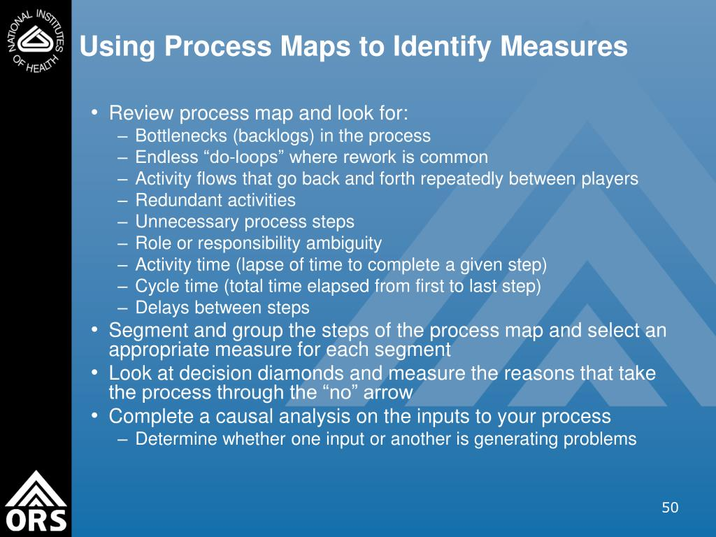 Using Process Maps to Identify Measures
