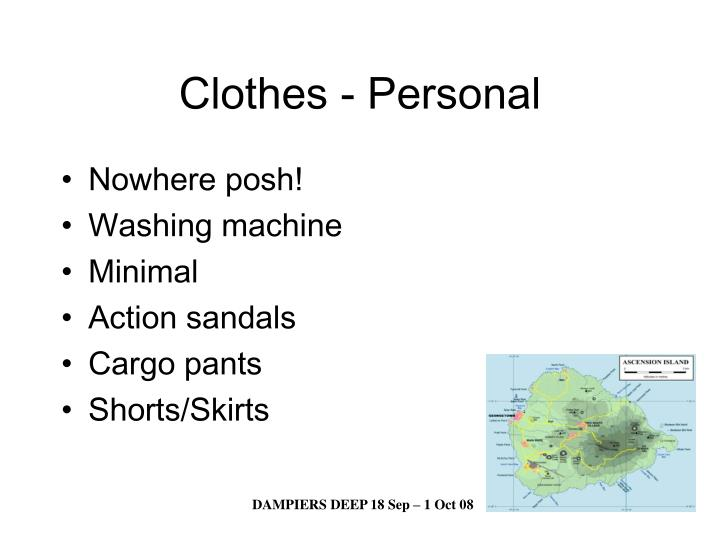 Clothes - Personal