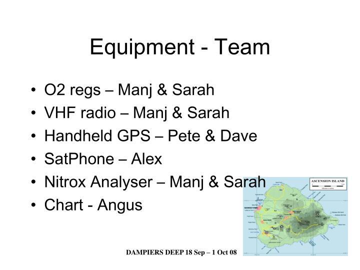 Equipment - Team