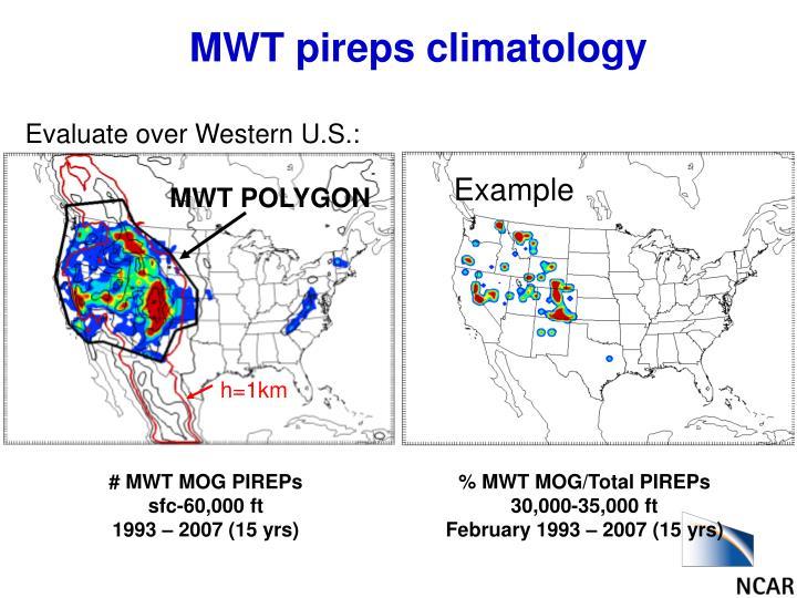 MWT pireps climatology