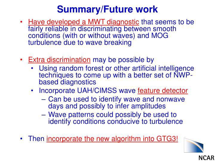 Summary/Future work