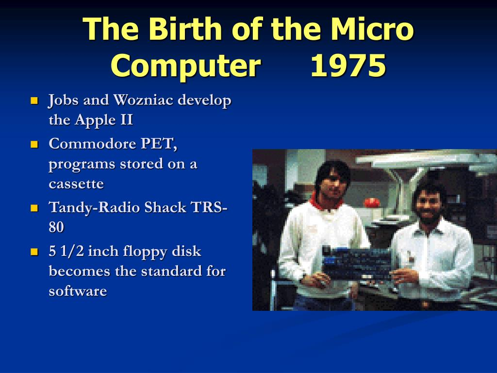 The Birth of the Micro Computer1975