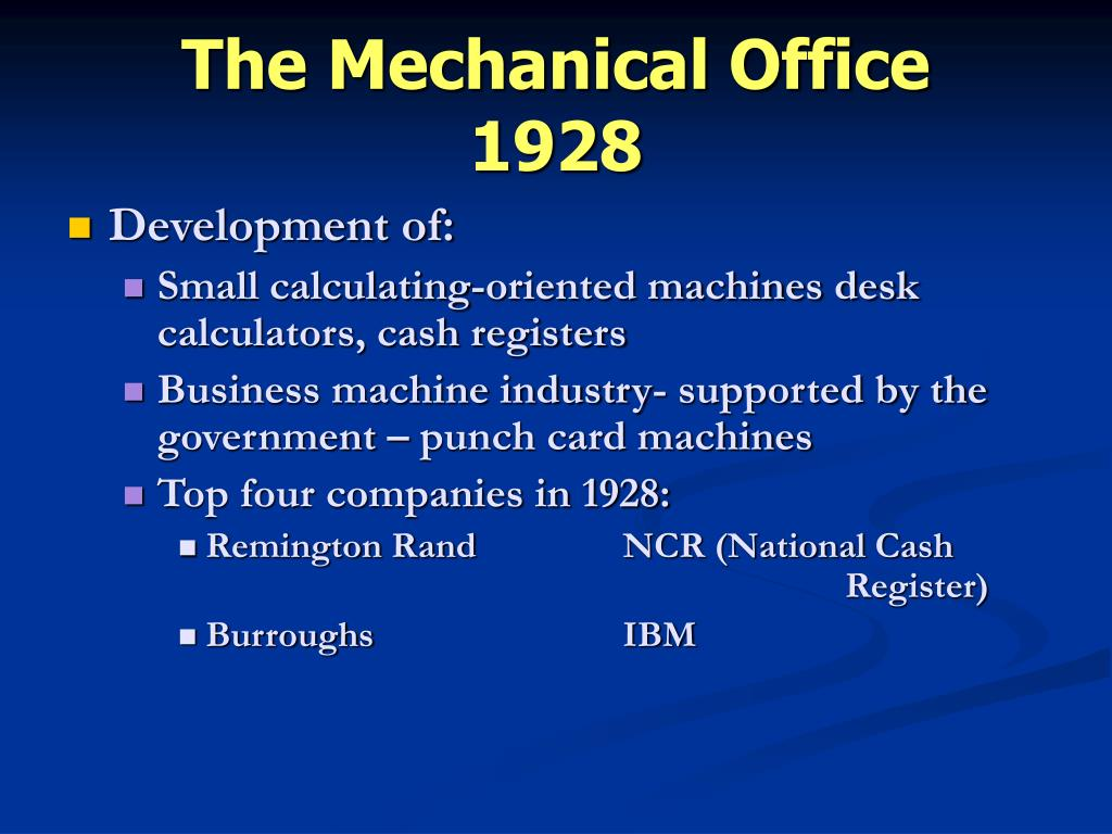 The Mechanical Office
