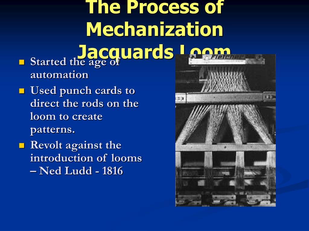The Process of Mechanization