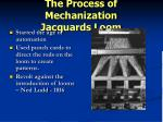 the process of mechanization jacquards loom